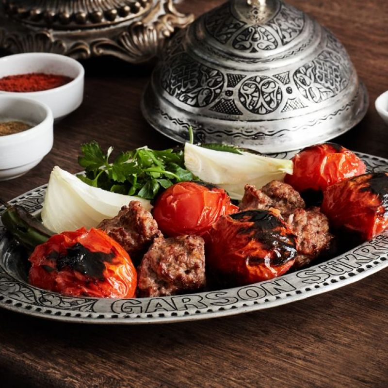 Kebab with Tomatoes